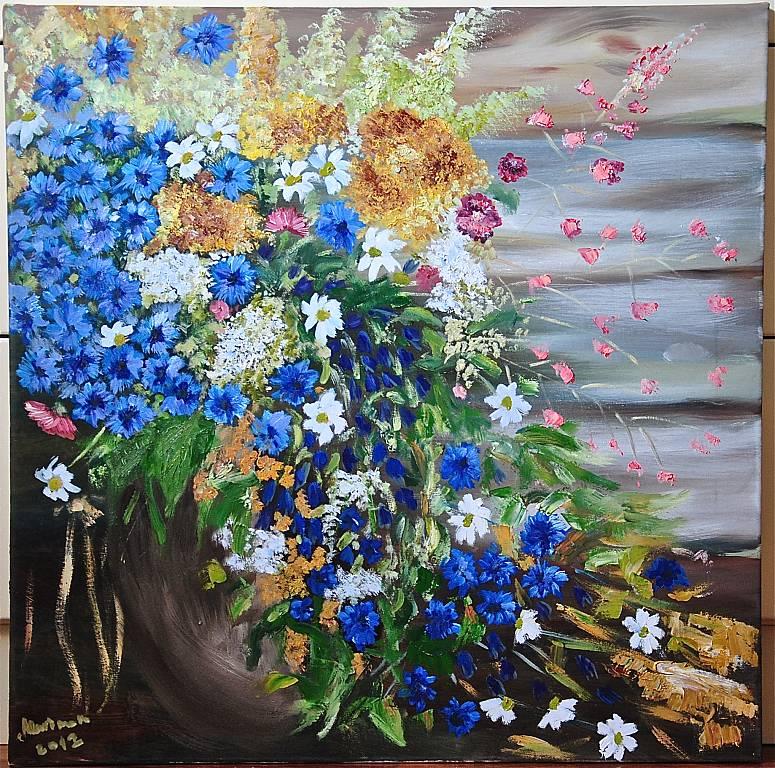 Fiori di campo vendita quadro pittura artlynow for Dipinti ad olio fiori