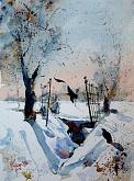 La porta dei corvi - Guido Ferrari - Acquerello - 390€