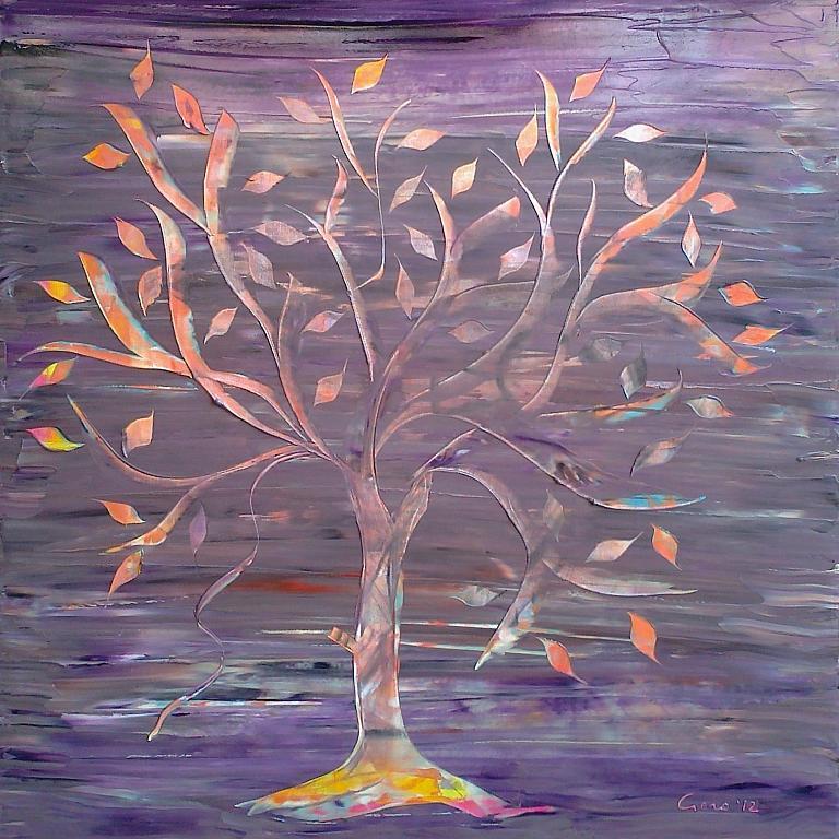 Sospesi, come le foglie, in un mondo senza tempo!  - Girolamo Peralta - Olio -  €