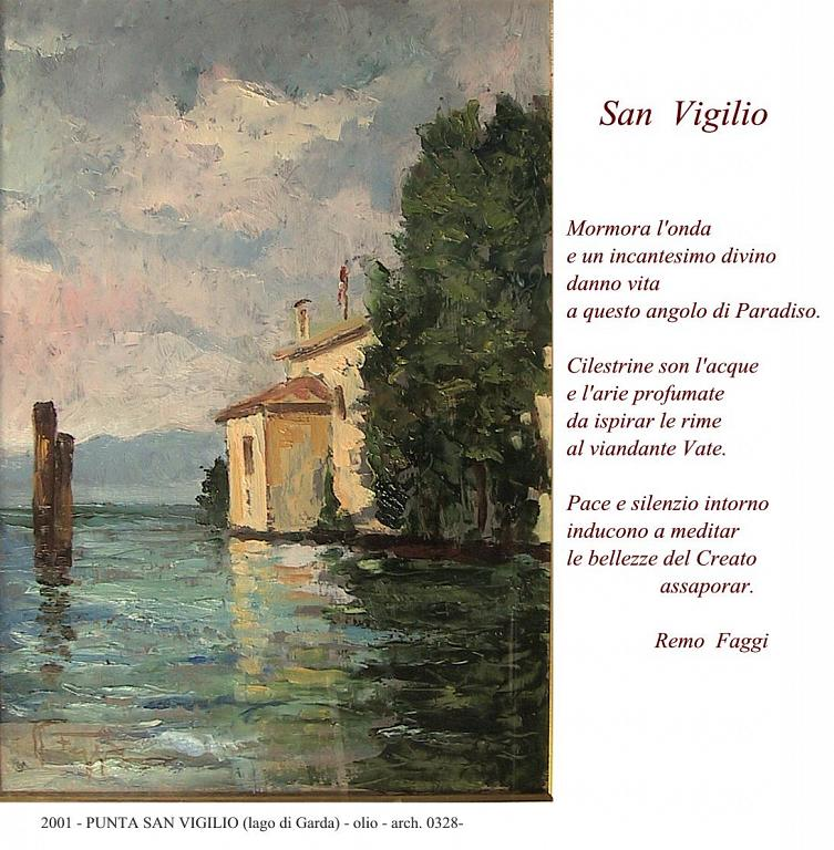 PUNTA SAN VIGILIO ( Lago di Garda) - remo faggi - Olio