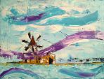 Riflessi asimmetrici nelle saline di nubia - Girolamo Peralta - Olio - 200€