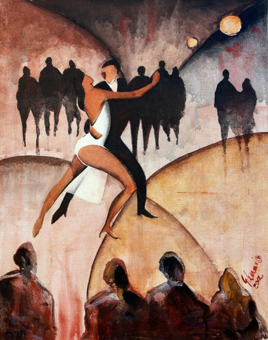 Lezione di Tango - Guido Ferrari - Acrilico -  €
