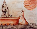 pensieri alla ferma - daniele Rallo  - Pastelli