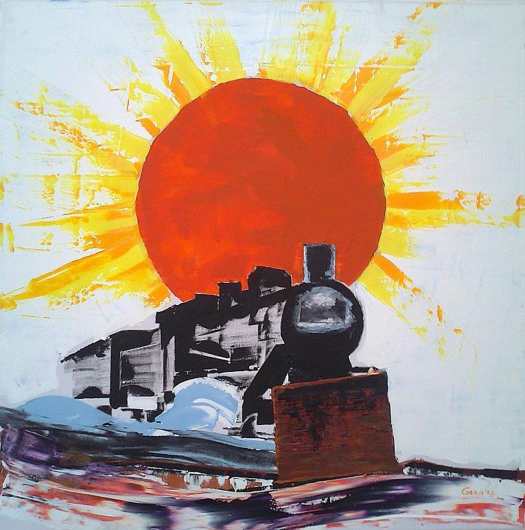 Splende il sole - Girolamo Peralta - Olio
