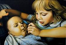 Il fratellino - Salvatore Ruggeri - Olio