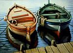 Barche al molo - Salvatore Ruggeri - Olio