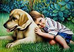 Bambino e il suo cane - Salvatore Ruggeri - Olio