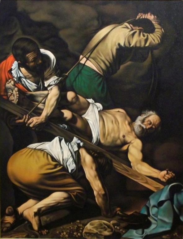 Copia d'autore da Caravaggio: Martirio di San Pietro - Salvatore Ruggeri - Olio