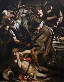 Copia d'autore da Caravaggio: Conversione di San Paolo - Salvatore Ruggeri - Olio