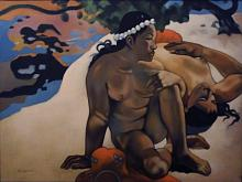 Copia d'autore da Paul Gauguin: Aha oe feii - Salvatore Ruggeri - Olio