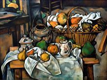 Copia d'autore da Paul Cèzanne: Tavolo da cucina - Salvatore Ruggeri - Olio