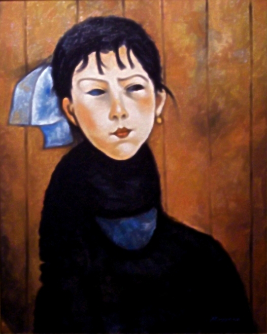 Copia d'autore da Amedeo Modigliani: Petite Marie - Salvatore Ruggeri - Olio