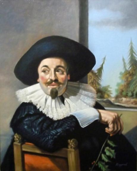 Copia d'autore da Frans Hals: Ritratto di Isaac Abrahamsz - Salvatore Ruggeri - Olio