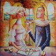 """Trattato sulla mela"" ciclo ""Rinascimento"" - Viktoriya Bubnova - Olio"