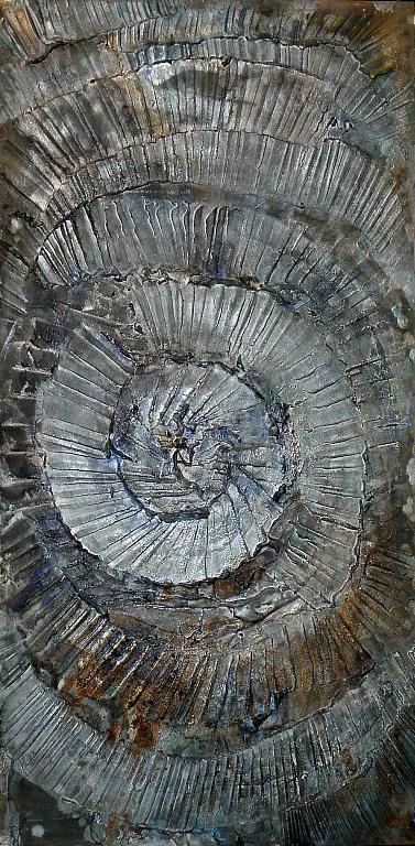 Cosmic vortix - Massimo Di Stefano - Tecnica mista su legno - 200 €
