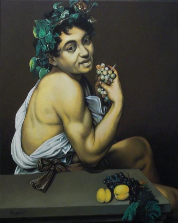 Copia d'autore da Caravaggio: Bacchino malato - Salvatore Ruggeri - Olio