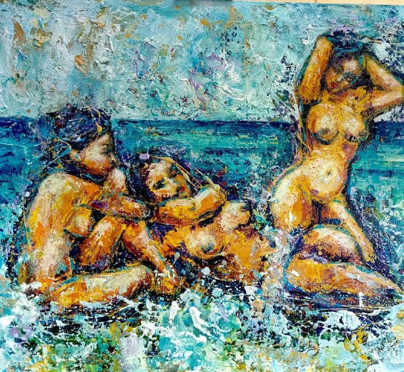 Tre donne - tiziana marra - Olio