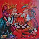 """""""SFIDA"""" - Viktoriya Bubnova - olio, tela, stuccho"""