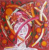 """""""Scaglie d'esistenza"""" - Girolamo Peralta - olio, acrilico, finitura cerata  - 200€"""