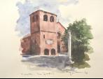SAN GIUSTO  ( Trieste ) - remo faggi - Acquerello - 500,00 euro