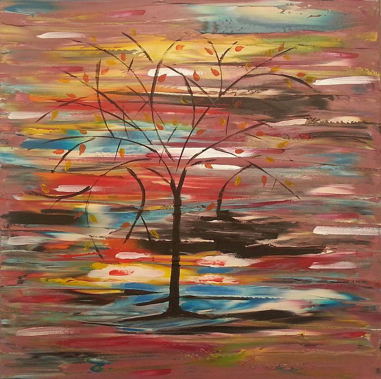 Miraggio esistenziale - Girolamo Peralta - olio e acrilico