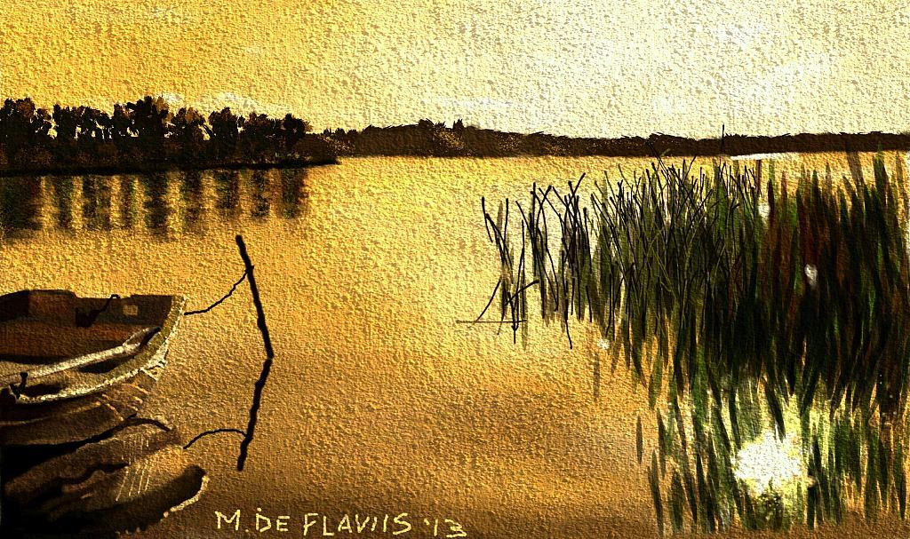 tramonto sull'acqua - Michele De Flaviis - Digital Art