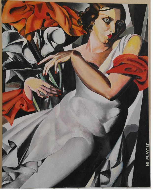Ritratto di Madame P. - Michele De Flaviis - Olio - 400 €