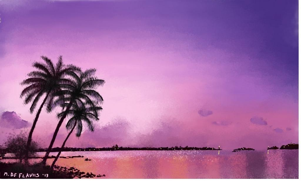 Un mare di tranquillità - Michele De Flaviis - Digital Art