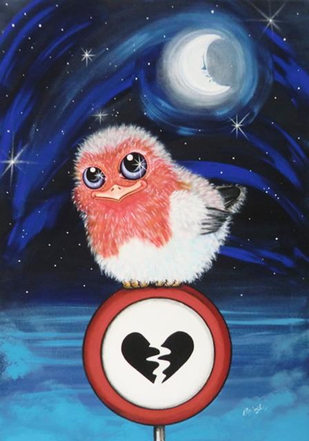 Collezione:Voglia di tenerezza-Vietato infrangere il cuore(sentimenti) - Monica Bedini - Acrilico