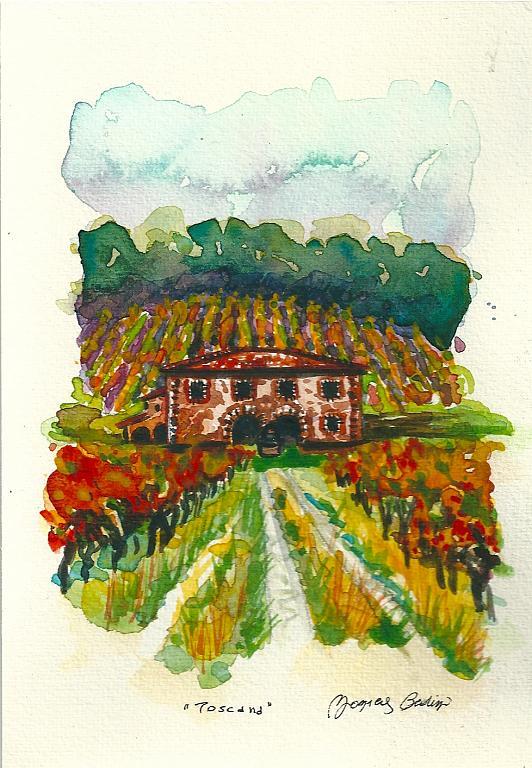 Toscana - Monica Bedini - Acquerello
