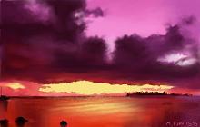 Cielo e mare infuocati - Michele De Flaviis - Digital Art