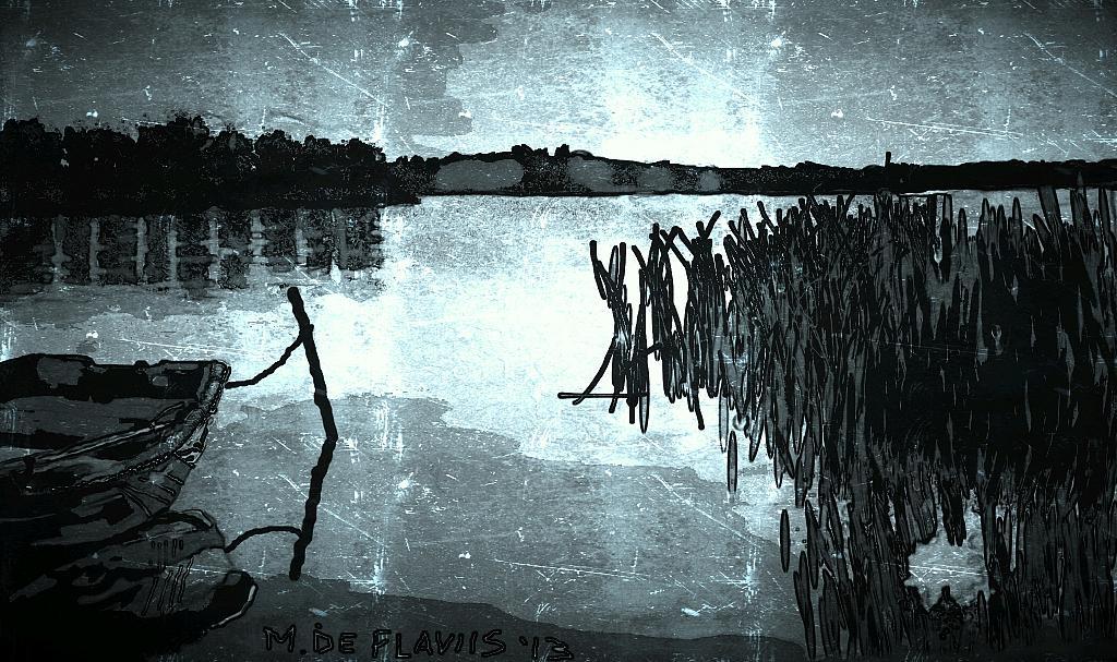 Tramonto sull'acqua - Michele De Flaviis - Digital Art - 70 €