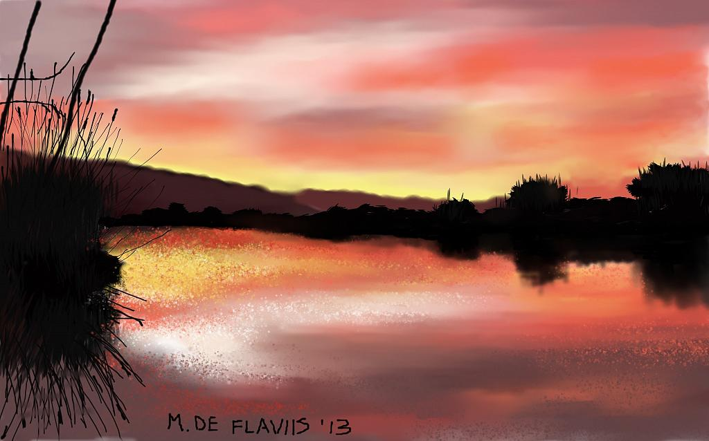Tramonto ad Orbetello - Michele De Flaviis - Digital Art