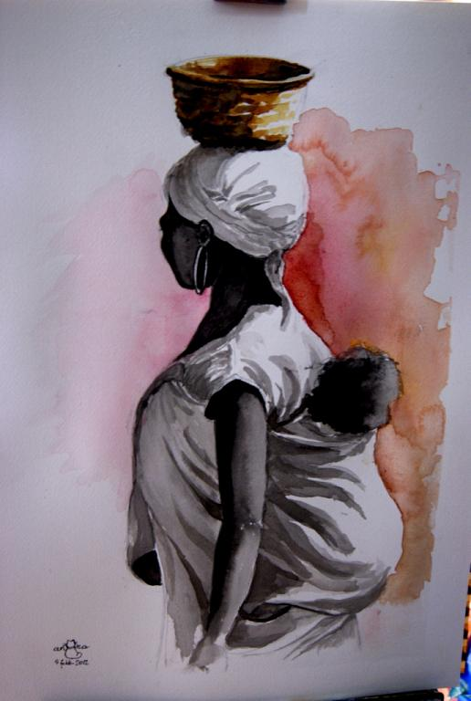 Profumo di Africa - anna casu - Acquerello