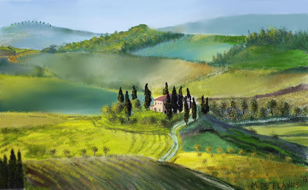 Casolare toscano - Michele De Flaviis - Digital Art