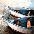 Barche in Normandia - anna casu - Acrilico su gesso e polistirolo