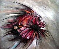 Pesce scorpione - anna casu - Acrilico