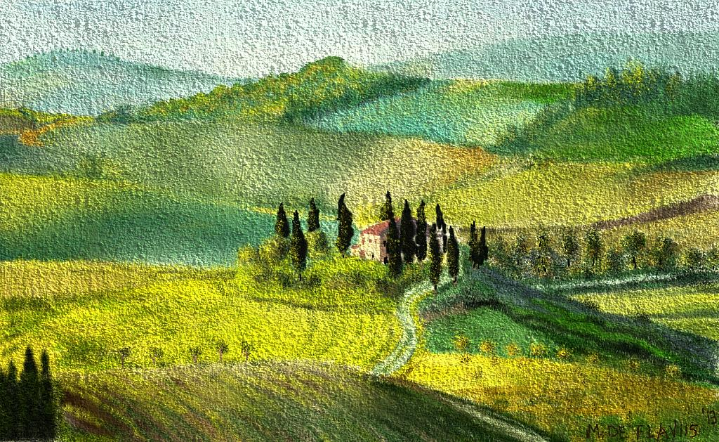 Casolare toscano - Michele De Flaviis - Digital Art - 70 €