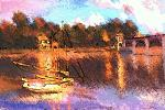 Copia C. Monet (Le pont d'Argenteuil) - Michele De Flaviis - Digital Art - 100 euro