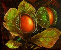 Frutti di ippocastano - anna casu - Acrilico