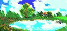 Casa e laghetto - Michele De Flaviis - Digital Art