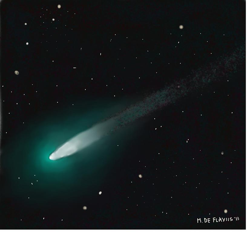 Cometa Ison 2013 - Michele De Flaviis - Digital Art