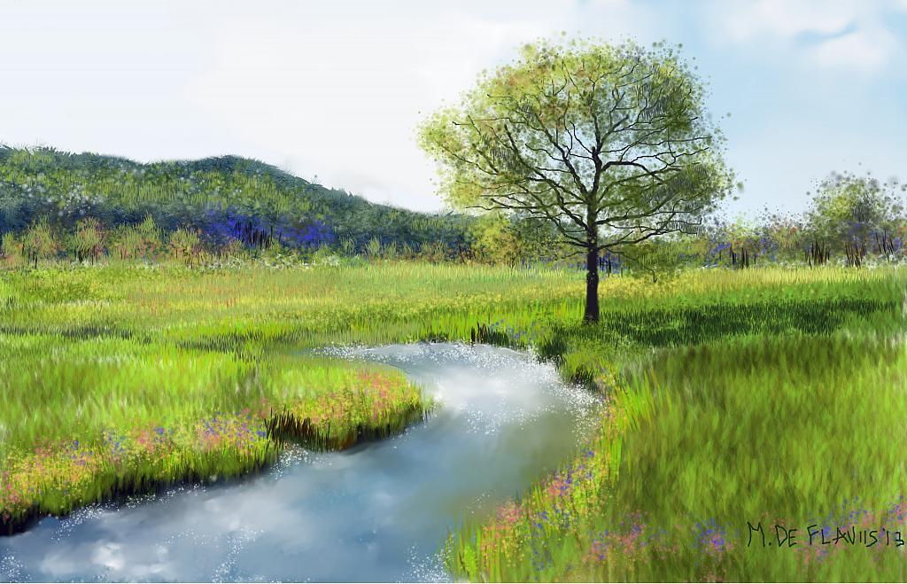 Corso d'acqua nella valle - Michele De Flaviis - Digital Art - 120 €