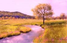 Corso d'acqua nella valle - Michele De Flaviis - Digital Art