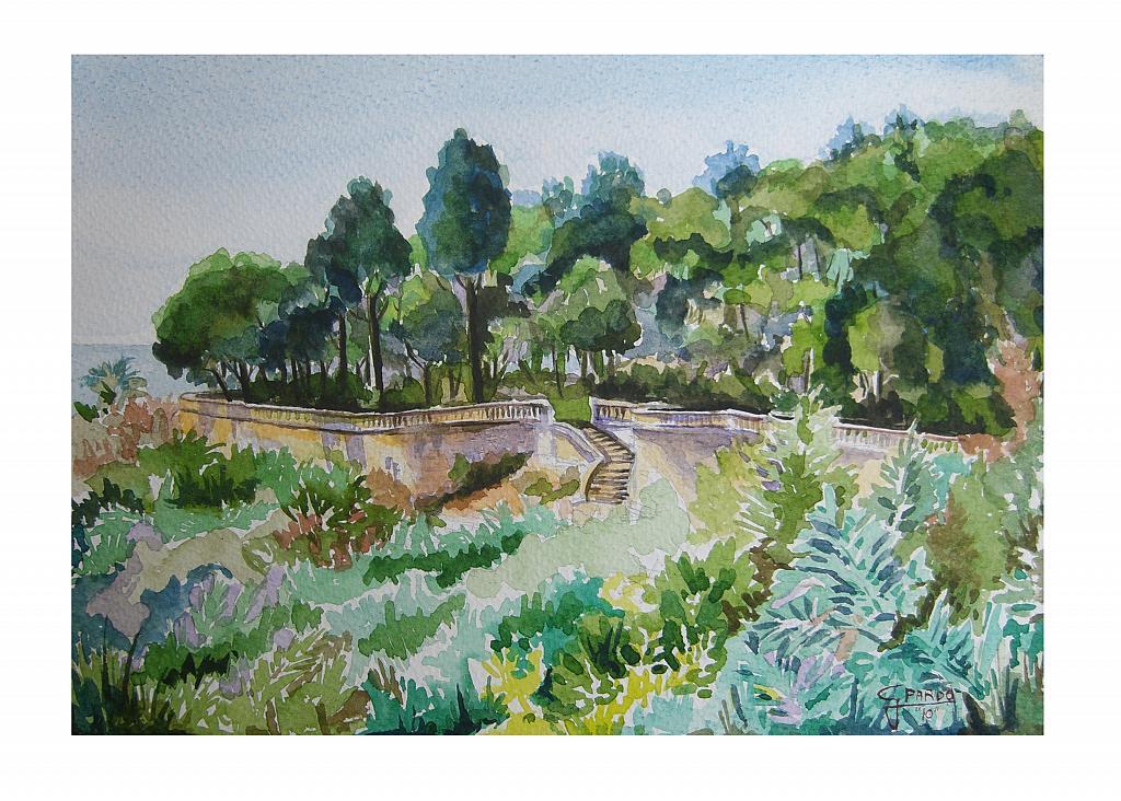 Giardini pubblici vendita quadro pittura artlynow for Disegno giardini