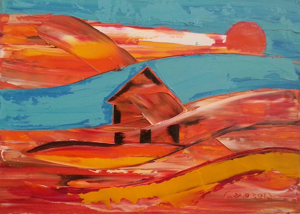 La casa del serpente - Girolamo Peralta - Olio - 170 €