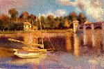 Copia C. Monet (Le pont d'Argenteuil) - Michele De Flaviis - Digital Art - 100€