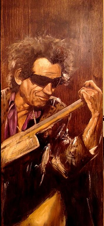 keith Richards - rosalba busani - Olio -  €