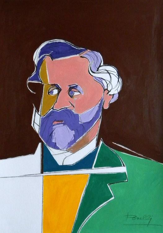 Ritratto di Giuseppe Verdi - Gabriele Donelli - Acrilico - 300 €