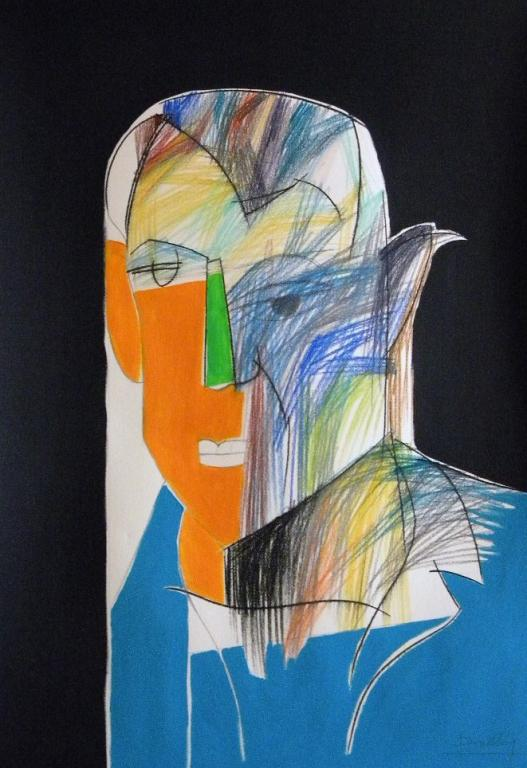 Ritratto di Pablo Picasso - Gabriele Donelli - Pastelli e acrilico - 400 €